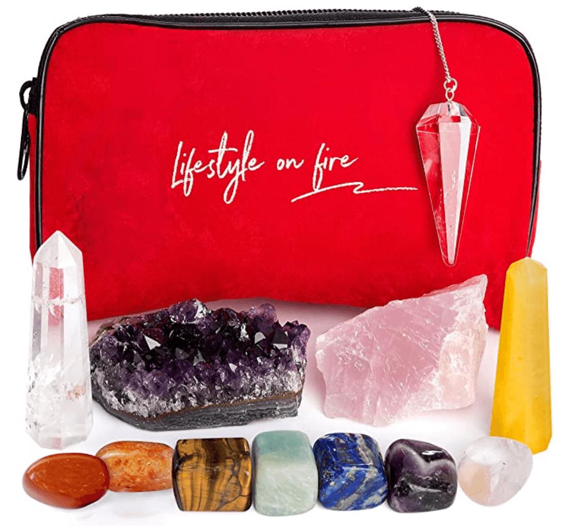 crystal chakra healing set