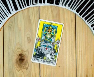 The Chariot Tarot Card.
