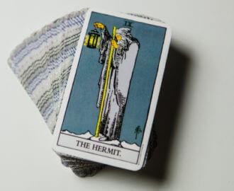 The Hermit Tarot Card.
