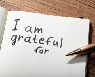 Keep a gratitude journal